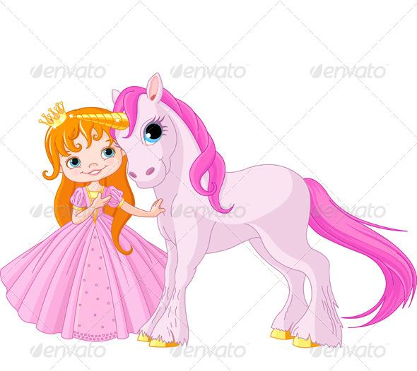 Princess and Unicorn - People Characters