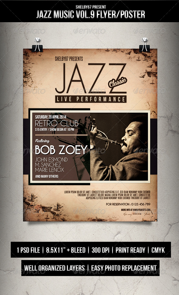 Jazz Music Flyer / Poster Vol.9 - Events Flyers