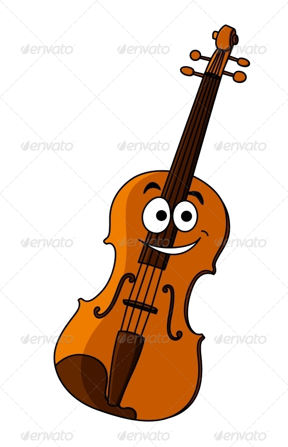violin cartoon by vectortradition graphicriver rh graphicriver net cartoon violin player cartoon violin drawing