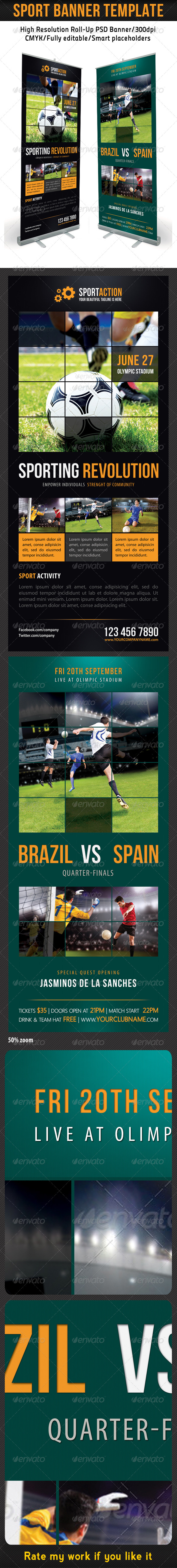Sport Banner Template 11 - Signage Print Templates