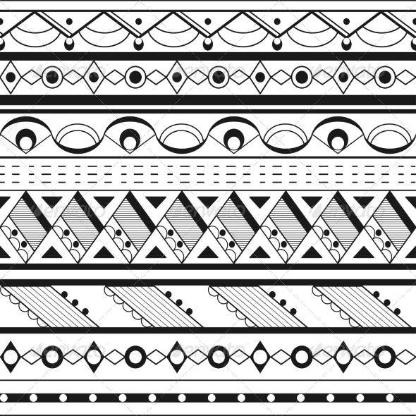 Seamless Ethnic Background - Backgrounds Decorative