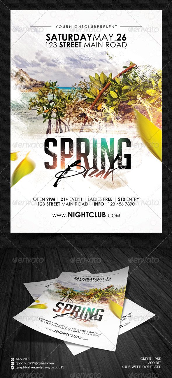 Spring Break Flyer Template Vol. 2 - Events Flyers