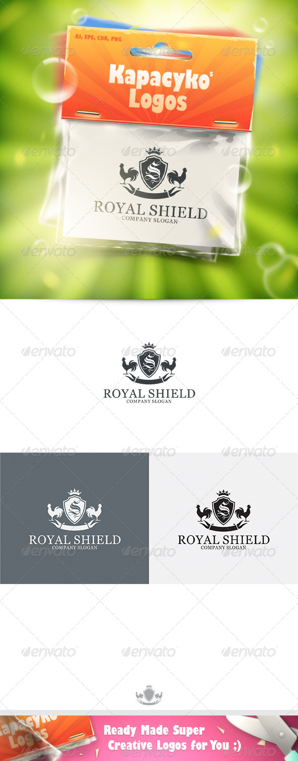 Royal Shield v.3 Logo - Crests Logo Templates