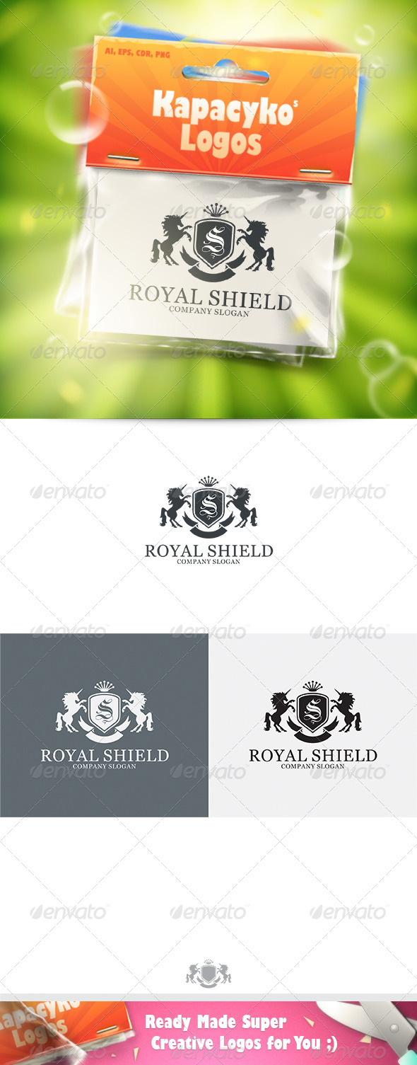 Royal Shield v.7 Logo - Crests Logo Templates