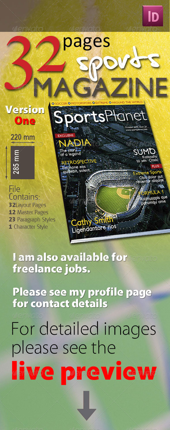 32 Pages Sports Magazine - Magazines Print Templates
