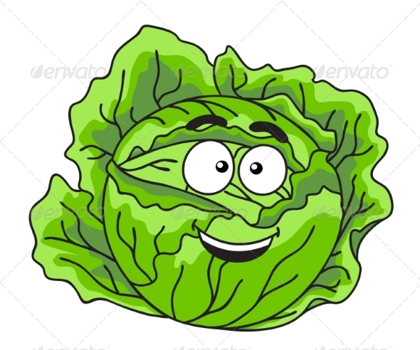 Cabbage Cartoon by seamartini | GraphicRiver