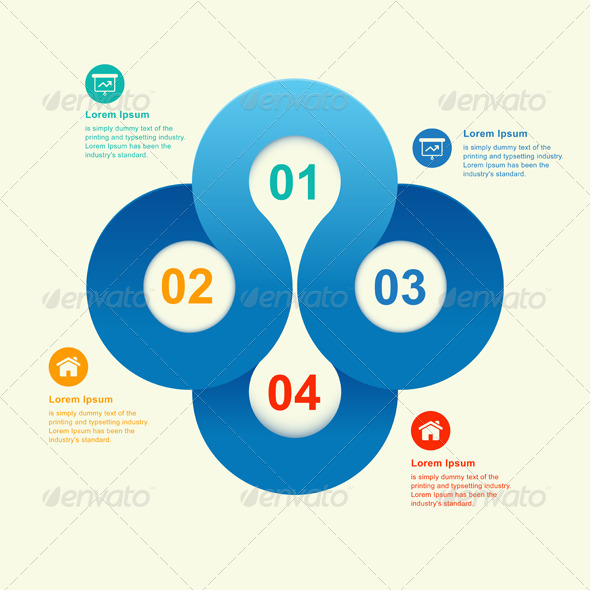 Round Numbered Banner Info Graphic - Web Technology