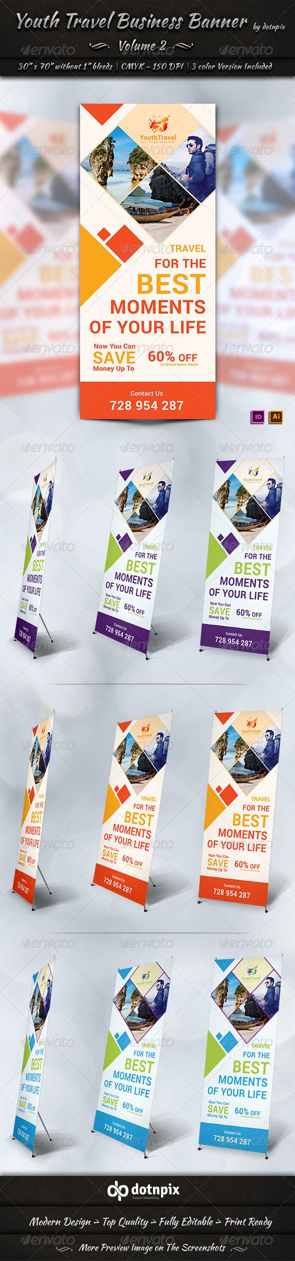 Travel / Tourism Business Banner | Volume 3 - Signage Print Templates