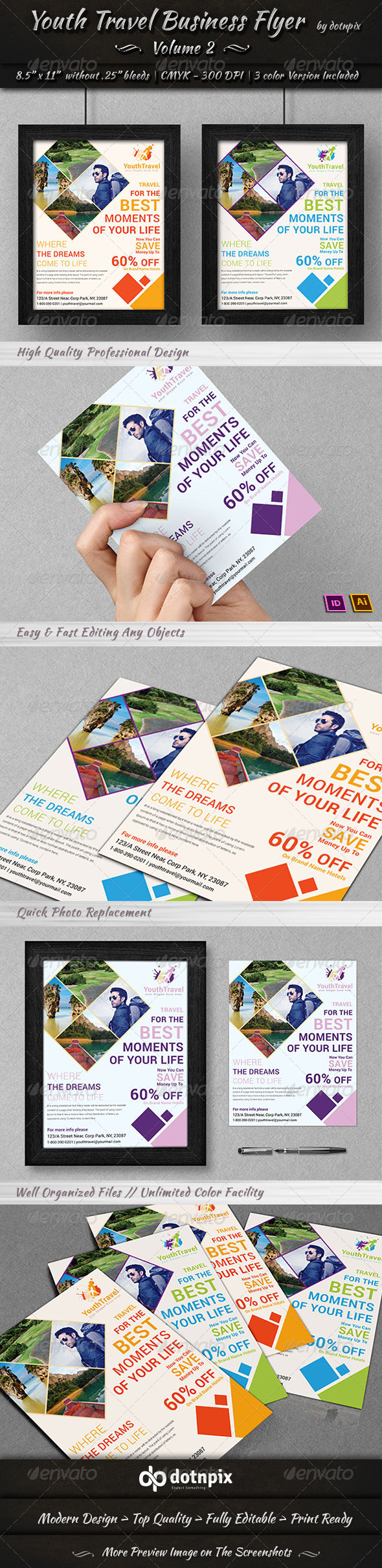 Travel / Tourism Business Flyer | Volume 3 - Corporate Flyers