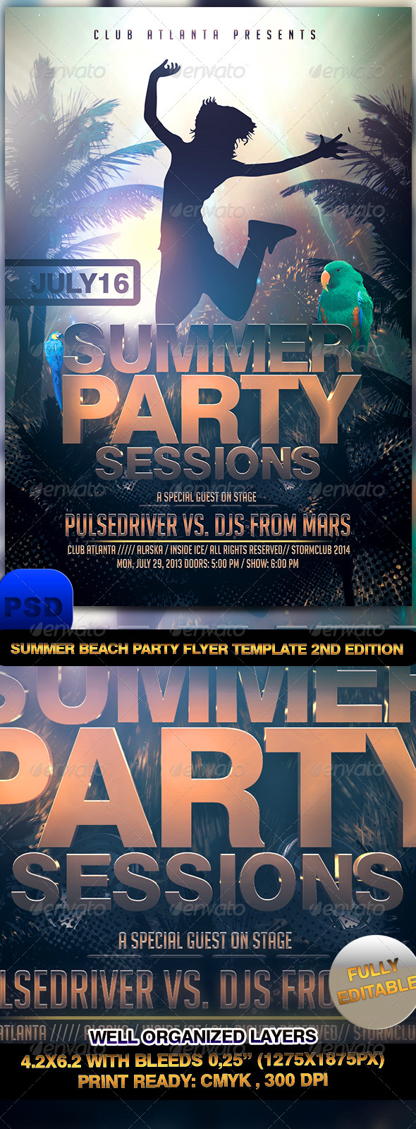 Summer Beach Party Flyer Template 2nd Edtition - Events Flyers