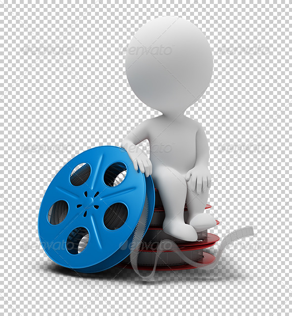 3D Small People - Film Reel - Characters 3D Renders