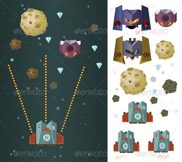 Galaxy War Game Assets - Sprites Game Assets