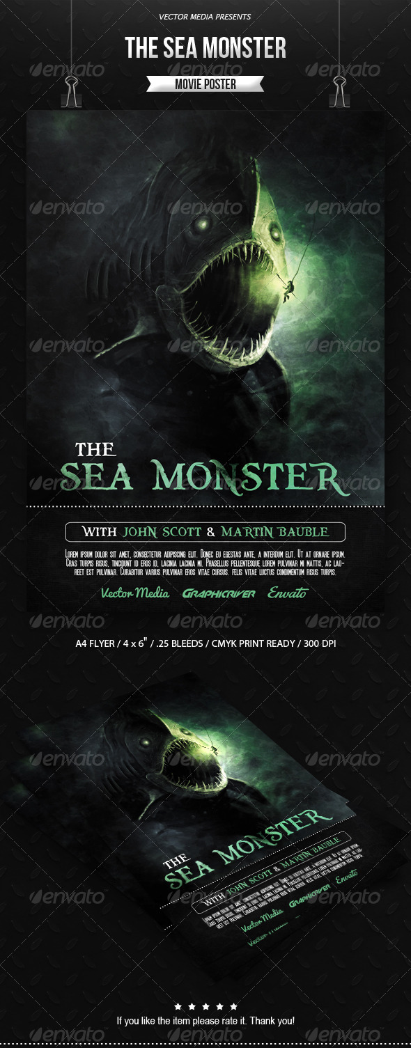 The Sea Monster - Movie Poster - Miscellaneous Events
