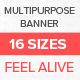 Multipurpose Banner Set Vol.2 - GraphicRiver Item for Sale