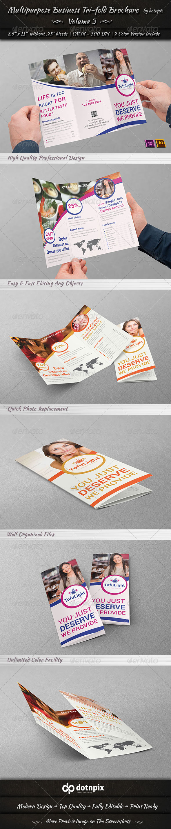 Multipurpose Business Tri-Fold Brochure | Volume 3 - Corporate Brochures