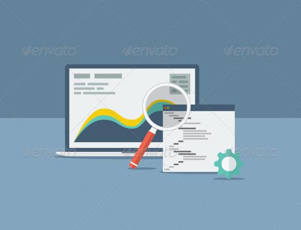 Flat SEO Design Concept - Web Technology