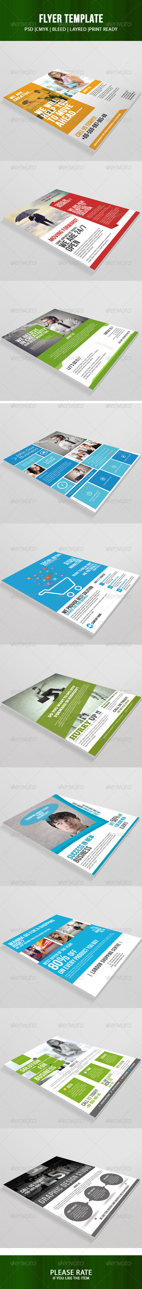 10 Flyer Template Bundle - Corporate Flyers
