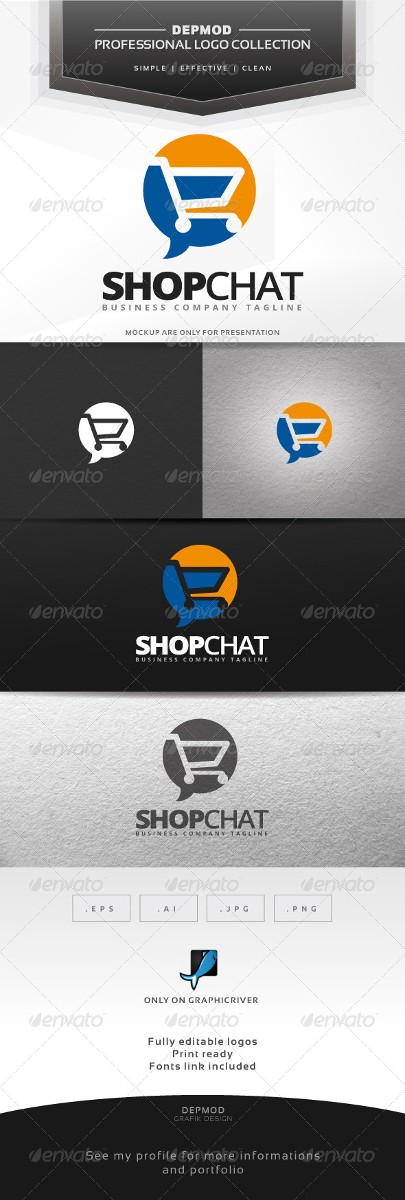 Shop Chat Logo - Symbols Logo Templates