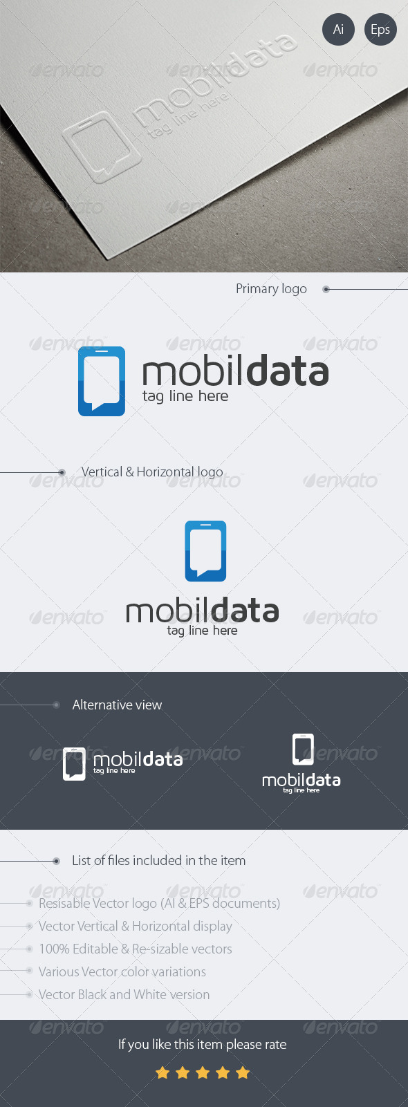 Mobile Data Logo Design - Logo Templates
