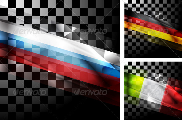 Concept Design of Flags - Abstract Conceptual
