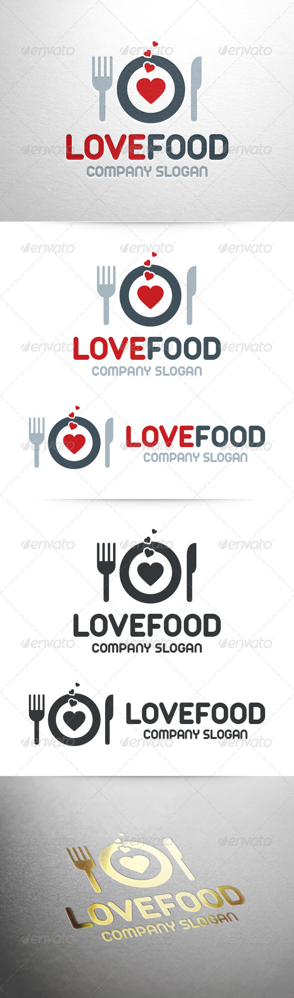 Love Food Logo Template - Food Logo Templates