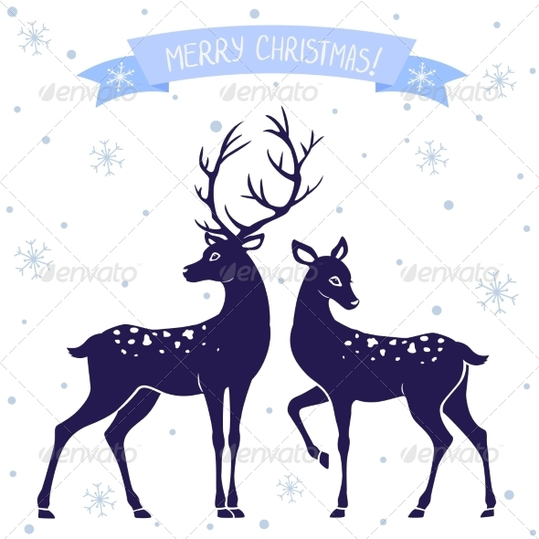 Deer Christmas - Christmas Seasons/Holidays