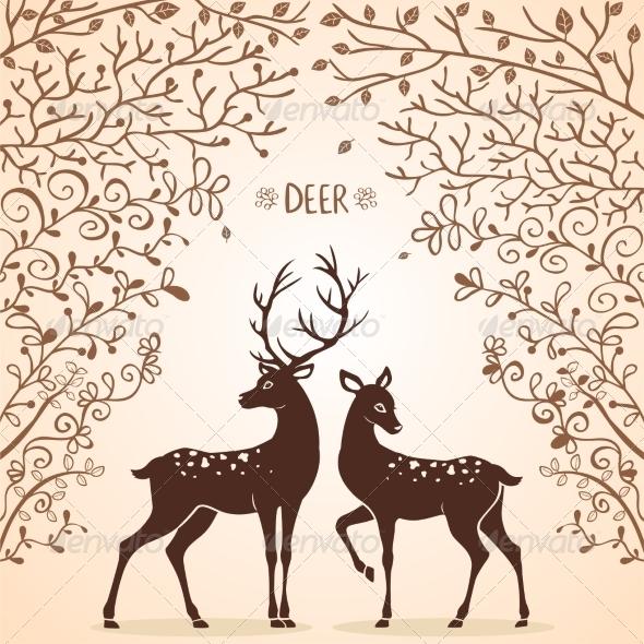 Deer Trees - Animals Characters