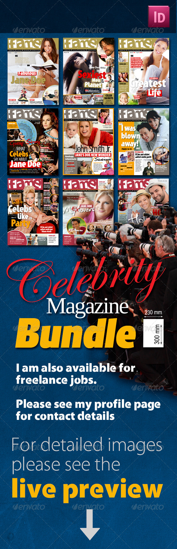 Celebrity Magazine Bundle - Magazines Print Templates