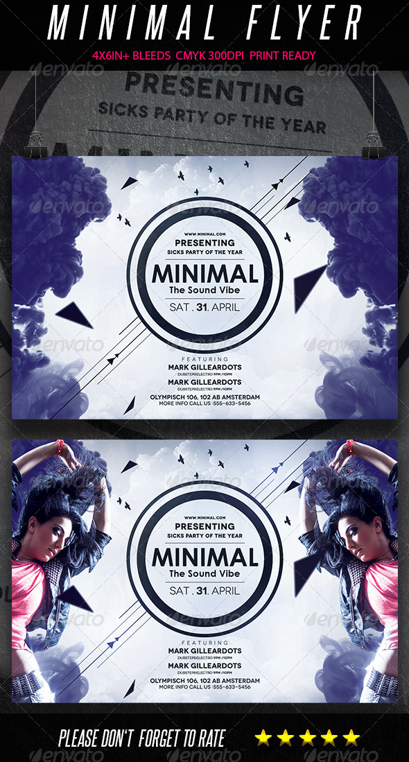 Minimal Sound Flyer vol2 - Clubs & Parties Events