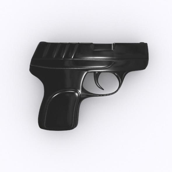 Pistol 3D model - 3DOcean Item for Sale
