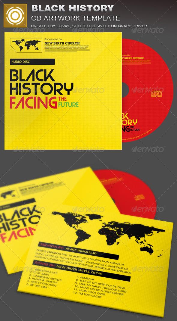 Black History Facing the Future CD Artwork  - CD & DVD Artwork Print Templates