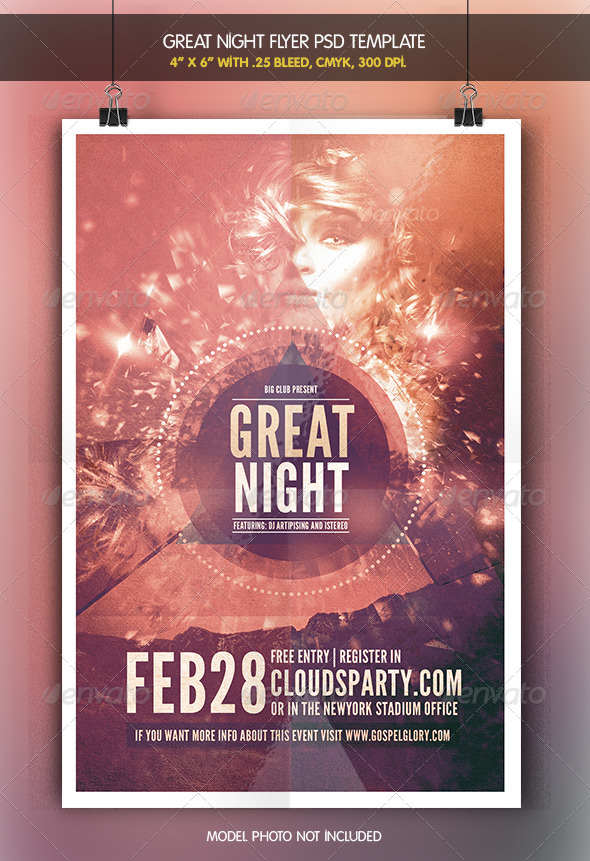 Great Night | Flyer Template - Clubs & Parties Events