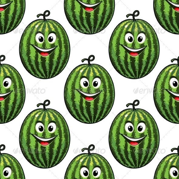 Watermelon Pattern - Food Objects