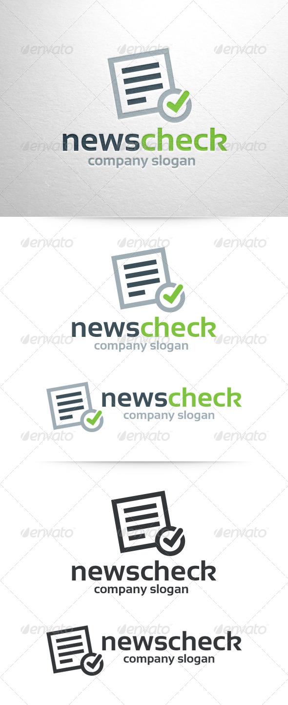 News Check Logo Template - Symbols Logo Templates