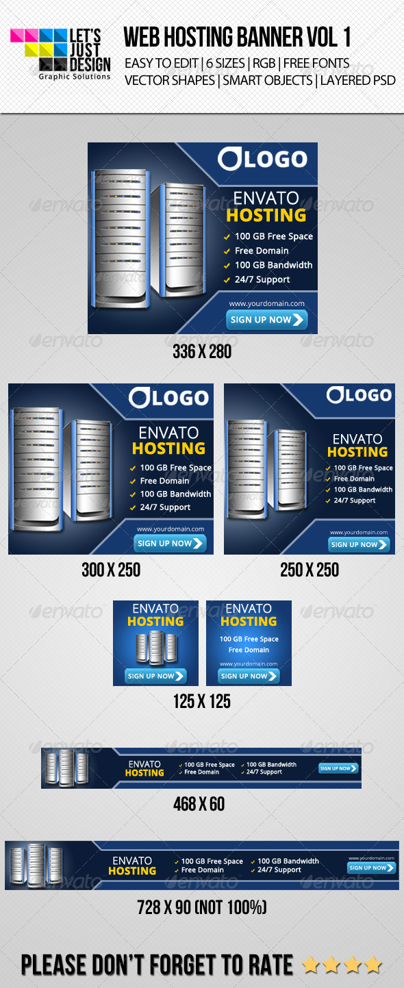 Web Hosting Company Ad Web Banner - Banners & Ads Web Elements
