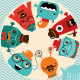 Banner Backgrounds with Hipster Monsters - GraphicRiver Item for Sale