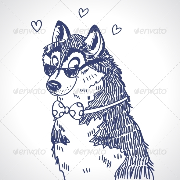 Husky sketch - Animals Characters