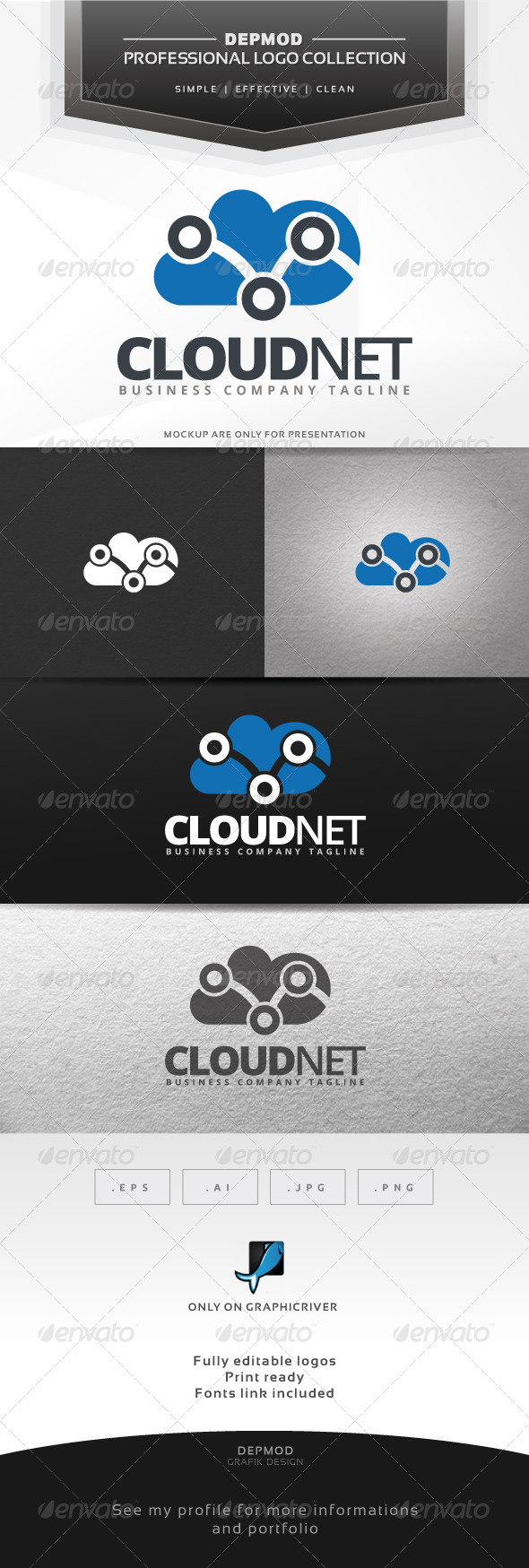 Cloud Net Logo - Symbols Logo Templates