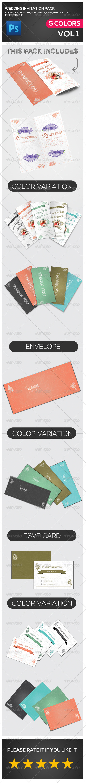 Wedding Invitation Multipurpose Pack - Cards & Invites Print Templates