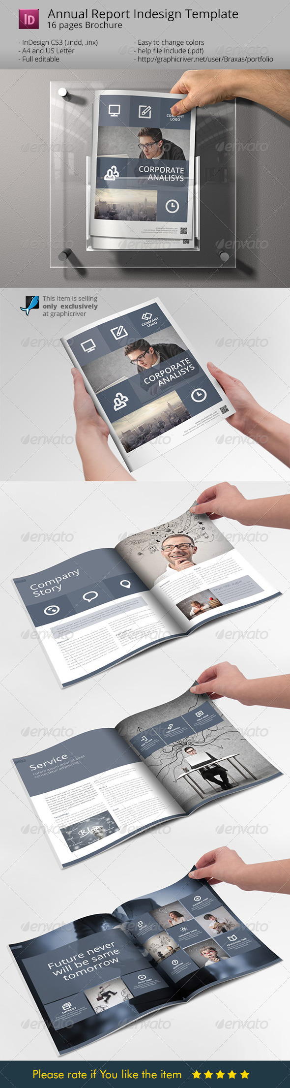 System Indesign Brochure Template - Sharp & Clean - Corporate Brochures