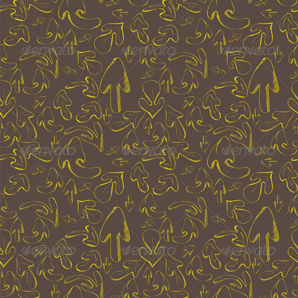 Hand drawn arrows. Seamless pattern - Backgrounds Decorative