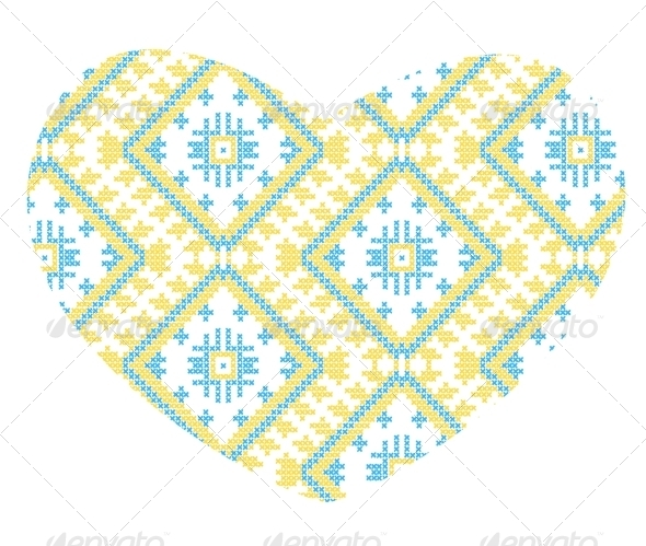 Ukrainian National Ornaments - Abstract Conceptual