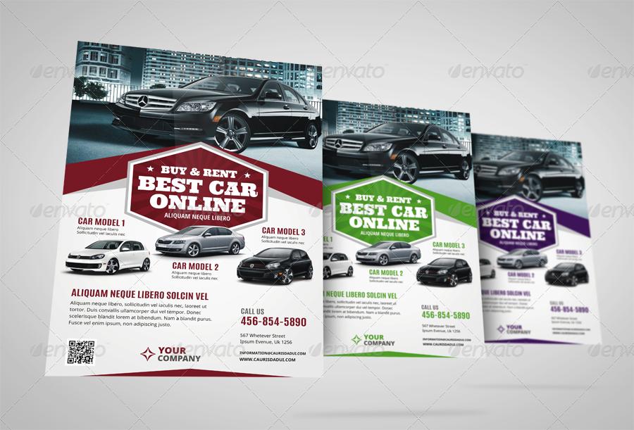 Automotive Car Sale Rental Flyer Ad Vol6 by JbnComilla – Sale Flyer Design