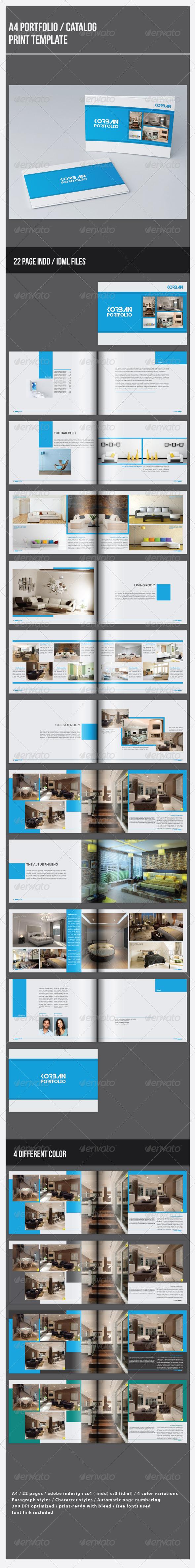 A4 Portfolio / Catalog Template - Portfolio Brochures