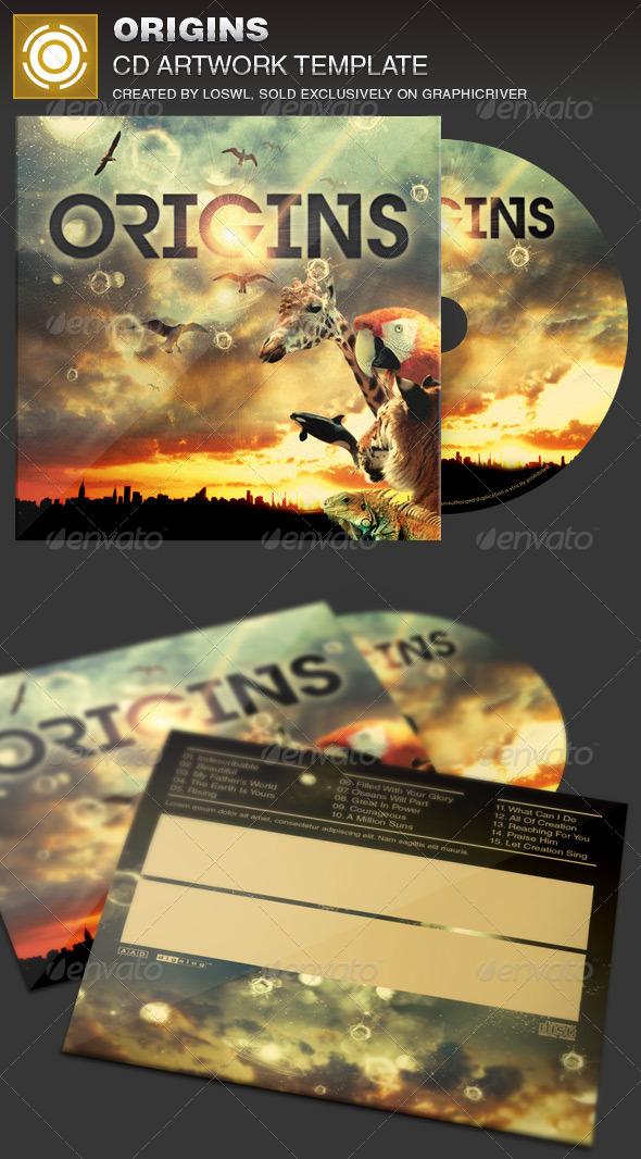 Origins CD Artwork Template - CD & DVD Artwork Print Templates