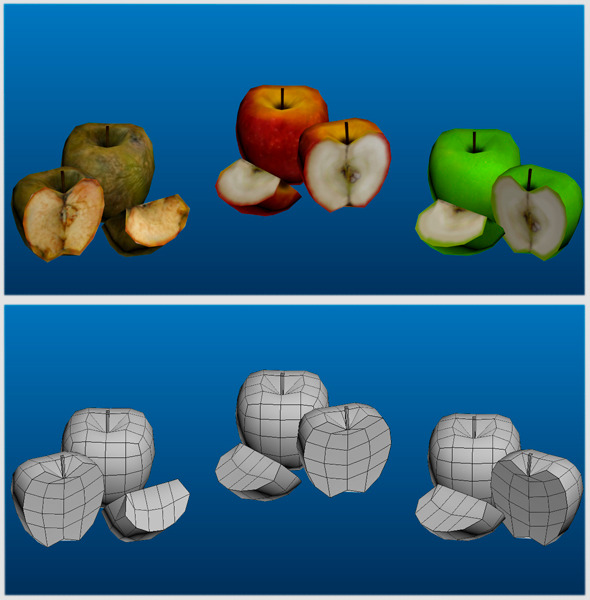 Apple's Low Poly Pack - 3DOcean Item for Sale