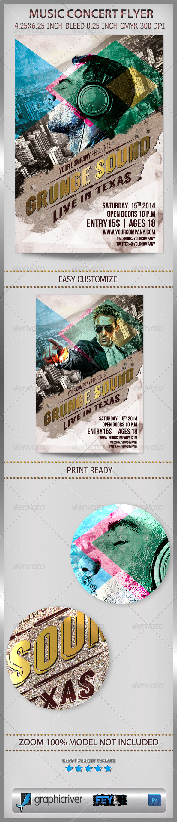Music Concert Flyer - Events Flyers