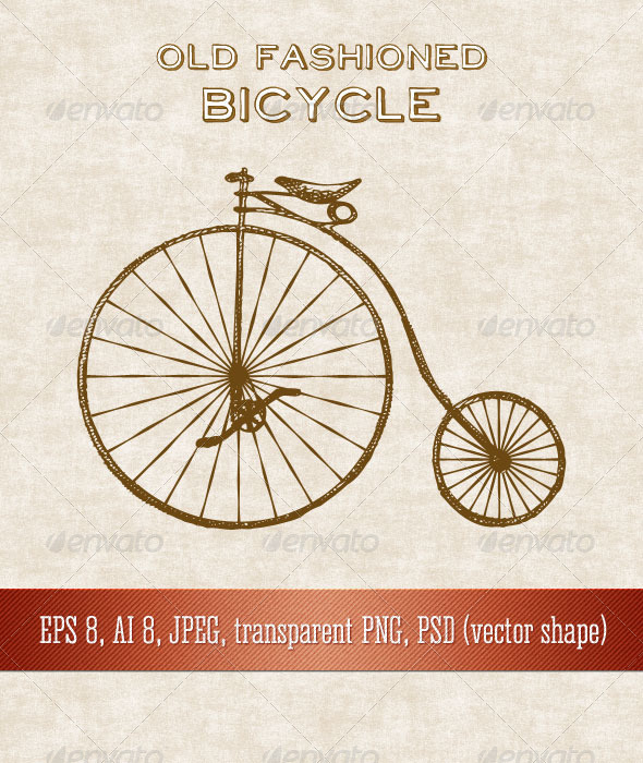 Old Fashioned Bicycle - Man-made Objects Objects