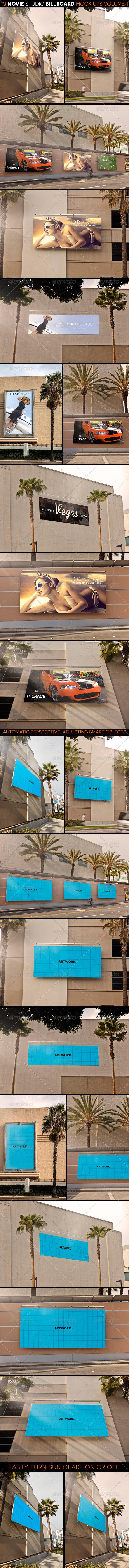 Movie Studio Billboard Mock Ups Volume 1 - Signage Print