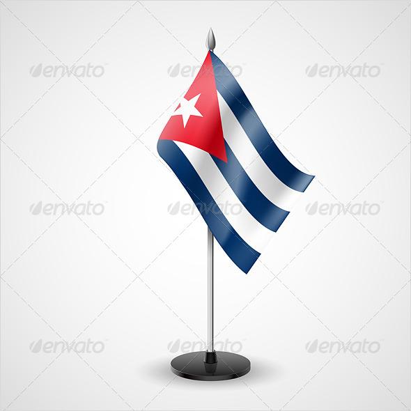Table Flag of Cuba - Miscellaneous Vectors